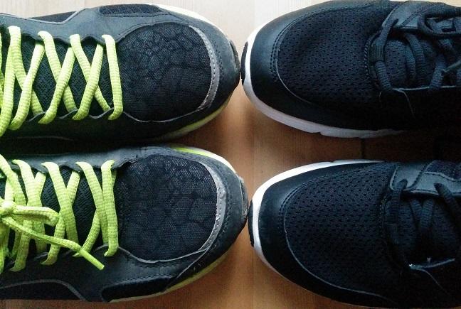 Meine ersten Laufschuhe und meine aktuellen Laufschuhe